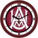 "Alabama A & M Bulldogs 12"" Dimension Wall Clock"