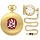 Alabama A & M Bulldogs Gold Pocket Watch