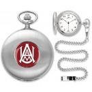 Alabama A & M Bulldogs Silver Pocket Watch