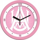 "Alabama A & M Bulldogs 12"" Pink Wall Clock"