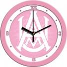 "Alabama A & M Bulldogs 12"" Pink Wall Clock"