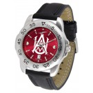 Alabama A & M Bulldogs Sport AnoChrome Men's Watch with Leather Band