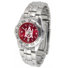 Alabama A & M Bulldogs Sport AnoChrome Ladies Watch with Steel Band