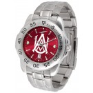 Alabama A & M Bulldogs Sport Steel Band Ano-Chrome Men's Watch