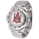 Alabama A & M Bulldogs Sport Steel Band Men's Watch