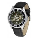 Army Black Knights Competitor AnoChrome Men's Watch with Nylon/Leather Band and Colored Bezel