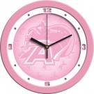 "Army Black Knights 12"" Pink Wall Clock"