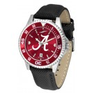 Alabama Crimson Tide  Competitor AnoChrome Men's Watch with Nylon/Leather Band and Colored Bezel