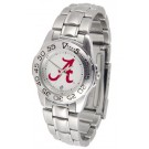 Alabama Crimson Tide Gameday Sport Ladies' Watch with a Metal Band