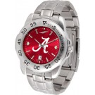 Alabama Crimson Tide Sport Steel Band Ano-Chrome Men's Watch