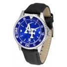 Air Force Academy Falcons Competitor AnoChrome Men's Watch with Nylon/Leather Band and Colored Bezel