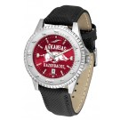 Arkansas Razorbacks Competitor AnoChrome Men's Watch with Nylon/Leather Band