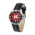 Arkansas Razorbacks Competitor Ladies AnoChrome Watch with Leather Band and Colored Bezel