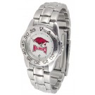 Arkansas Razorbacks Gameday Sport Ladies' Watch with a Metal Band