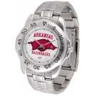 Arkansas Razorbacks Sport Steel Band Men's Watch