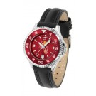 Arizona State Sun Devils Competitor Ladies AnoChrome Watch with Leather Band and Colored Bezel