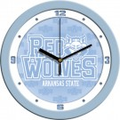 """Arkansas State Red Wolves 12"""" Blue Wall Clock"""
