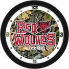 "Arkansas State Red Wolves 12"" Camo Wall Clock"