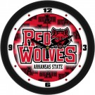 "Arkansas State Red Wolves 12"" Dimension Wall Clock"