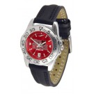 Arkansas State Red Wolves Sport AnoChrome Ladies Watch with Leather Band