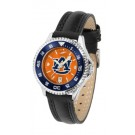 Auburn Tigers  Competitor Ladies AnoChrome Watch with Leather Band and Colored Bezel