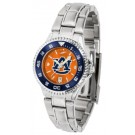 Auburn Tigers  Competitor AnoChrome Ladies Watch with Steel Band and Colored Bezel