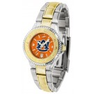 Auburn Tigers  Competitor AnoChrome Ladies Watch with Two-Tone Band