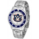 Auburn Tigers Competitor Watch with a Metal Band