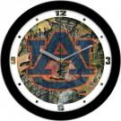 """Auburn Tigers 12"""" Camo Wall Clock"""