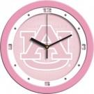 """Auburn Tigers 12"""" Pink Wall Clock"""