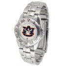Auburn Tigers Gameday Sport Ladies' Watch with a Metal Band