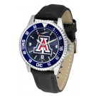 Arizona Wildcats Competitor AnoChrome Men's Watch with Nylon/Leather Band and Colored Bezel
