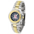 Arizona Wildcats Competitor AnoChrome Ladies Watch with Two-Tone Band