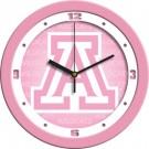 "Arizona Wildcats 12"" Pink Wall Clock"
