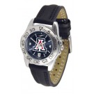 Arizona Wildcats Sport AnoChrome Ladies Watch with Leather Band
