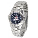 Arizona Wildcats Sport AnoChrome Ladies Watch with Steel Band