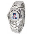 Arizona Wildcats Ladies Sport Watch with Stainless Steel Band