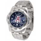 Arizona Wildcats Sport Steel Band Ano-Chrome Men's Watch