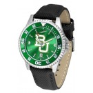Baylor Bears Competitor AnoChrome Men's Watch with Nylon/Leather Band and Colored Bezel by