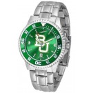 Baylor Bears Competitor AnoChrome Men's Watch with Steel Band and Colored Bezel by