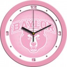 "Baylor Bears 12"" Pink Wall Clock"