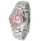 Baylor Bears Ladies Sport Watch with Steel Band and Mother of Pearl Dial by