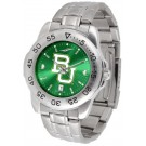 Baylor Bears Sport Steel Band Ano-Chrome Men's Watch