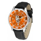 Bowling Green State Falcons Competitor AnoChrome Men's Watch with Nylon/Leather Band and Colored Bezel