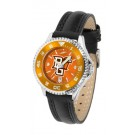 Bowling Green State Falcons Competitor Ladies AnoChrome Watch with Leather Band and Colored Bezel