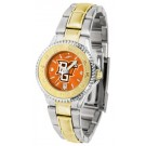Bowling Green State Falcons Competitor AnoChrome Ladies Watch with Two-Tone Band