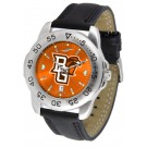 Bowling Green State Falcons Sport AnoChrome Men's Watch with Leather Band