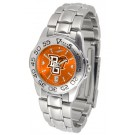 Bowling Green State Falcons Sport AnoChrome Ladies Watch with Steel Band