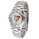 Bowling Green State Falcons Gameday Sport Ladies' Watch with a Metal Band