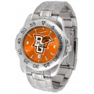 Bowling Green State Falcons Sport Steel Band Ano-Chrome Men's Watch